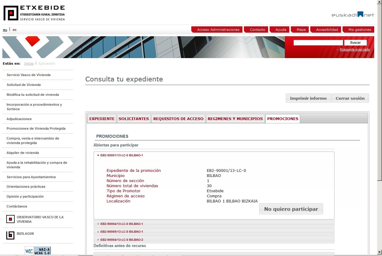 Inscripci n para participar en los procedimientos de for Oficina zuzenean bilbao